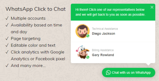 WhatsApp Click to Chat Plugin