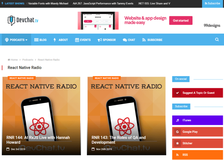React Native Radio Podcast