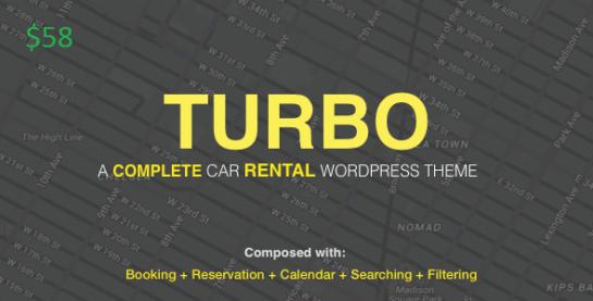 Turbo – Car Rental System WordPress Theme